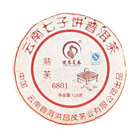 Шу Пуэр 6801 (Блин)  2008 год 110 гр Фабрика Юньнань Пуэр Хун Чен Мао купить за 780 руб.