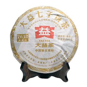 """Шу Пуэр """"7632"""" (Блин) 2012 год 357 гр Фабрика Менхай ДаИ купить за 4600 руб."""