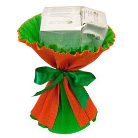 Букет из чая - Лютик оранжевый - Подарочный набор чайный букет купить за 395 руб.