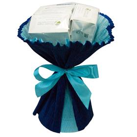 Букет из чая - Лютик синий - Подарочный набор чайный букет купить за 410 руб.