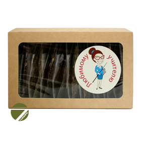 Подарочный чайный набор - Чайный сет Любимому учителю №1 купить за 550 руб.