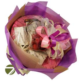 Букет из чая - Амарант сиреневый - Подарочный набор чайный букет купить за 1800 руб.
