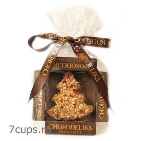 Конфета Марципановая ёлка в молочном шоколаде Chokodelika 31 гр купить за 150 руб.