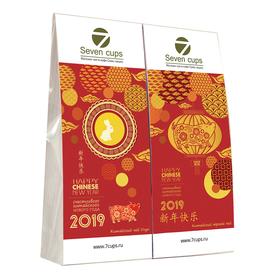 Подарок 2019 - Китайский Новый год - Подарочный набор из двух пакетиков с чаем купить за 350 руб.