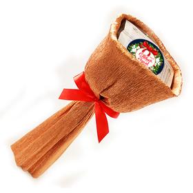 Букет из чая - Лютик новогодний в бронзе - Подарочный набор чайный букет купить за 600 руб.