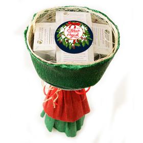 Букет из чая - Ирис новогодний - Подарочный набор чайный букет купить за 1200 руб.
