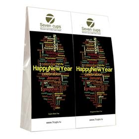 Подарочный набор из двух пакетиков с чаем - Счастливого Нового Года купить за 350 руб.