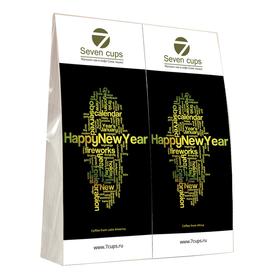 Подарочный набор из двух пакетиков с кофе - Счастливого Нового Года купить за 500 руб.