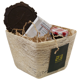 Командирский - Подарочный набор с чаем в корзинке купить за 750 руб.