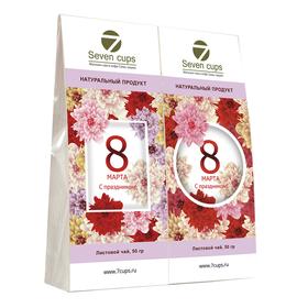 Два чая - Астры - Подарочный чайный набор купить за 350 руб.