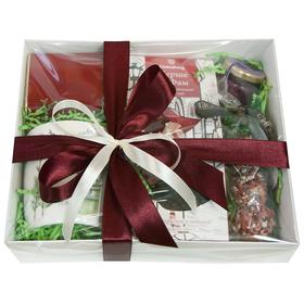 Коробка подарочная с чаем, драже и кружкой - Шерше ля Фам купить за 2000 руб.