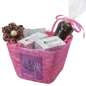Восьмое Марта - Подарочный набор - Сизалевое кашпо с чаем и сладостями купить за 750 руб.