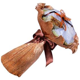 Букет из чая и кофе - Гладиолус - Подарочный набор чайно-кофейный букет купить за 1400 руб.