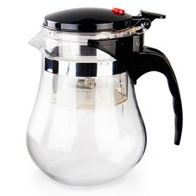 Чайник стеклянный заварочный с кнопкой Гунфу (типот) 1000 мл купить за 850 руб.