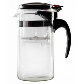 Чайник стеклянный заварочный с кнопкой Гунфу (типот) 1000 мл купить за 997 руб.