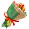 Букет из чая - Новогодний цветок - Подарочный набор чайный букет купить за 1200 руб.