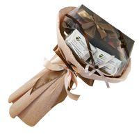 Букет из чая и кофе - Гладиолус - Подарочный набор чайно-кофейный букет купить за 1715 руб.