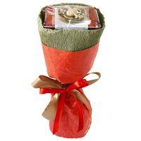 Букет из чая - Маргаритка оранжевая - Подарочный набор чайный букет купить за 440 руб.