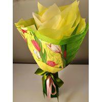 Букет из чая - Солнечный тюльпан - Подарочный набор чайный букет купить за 990 руб.