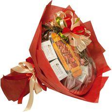 Букет из кофе - Красный мак - Подарочный набор кофейный букет