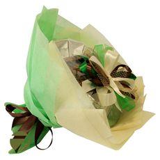 Букет из чая и кофе - Ирландский колокольчик зеленый - Подарочный набор чайно-кофейный букет