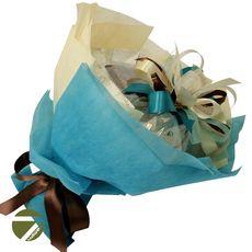 Букет из чая и кофе - Ирландский колокольчик голубой - Подарочный набор чайно-кофейный букет