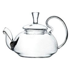 Чайник из жаропрочного стекла Жасмин с пружинкой 400 мл