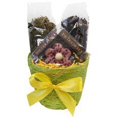 Кашпо подарочное с чаем и сладостями - Весенняя радость