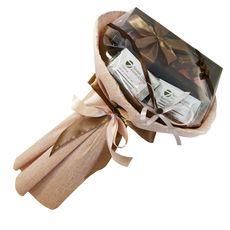 Букет из чая и кофе - Гладиолус - Подарочный набор чайно-кофейный букет