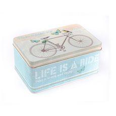 Банка для чая, сахара и конфет Велосипед, 140 х 88 х 64 мм