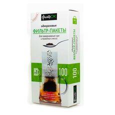 Бумажные фильтры для чая и трав ФильтрОК, размер S, 100шт/уп