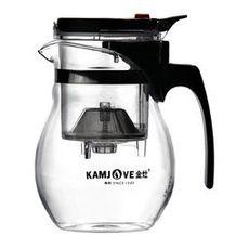 Чайник стеклянный заварочный с кнопкой Гунфу KAMJOVE (типот) 600 мл