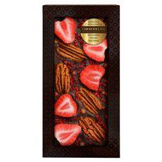 Шоколад с украшением Chokodelika темный с украшением  клубника, пекан, малина 100 гр