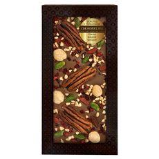 Шоколад с украшением Chokodelika молочный с украшением  пекан, вишня, фундук 100 гр
