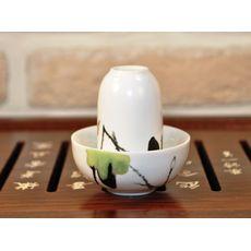 Чайная пара фарфоровая Журавли - пиала и стаканчик