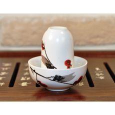 Чайная пара фарфоровая Сакура - пиала и стаканчик