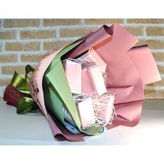 Букет из чая - Гиацинт розовый - Подарочный набор чайный букет