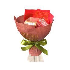 Букет из чая - Розовый бутон - Подарочный набор чайный букет