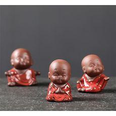 Игрушка для чайной церемонии Мальчик- монах -  глина, эмаль