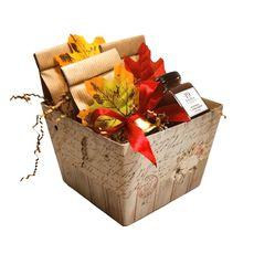 Чайный набор Осенний подарок - коробка с чаем и джемом