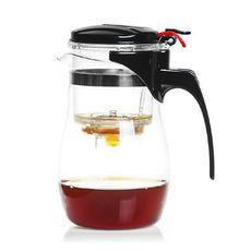 Чайник стеклянный заварочный с кнопкой Гунфу  (типот) 600 мл