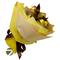 Букет из чая - Амарант желтый - Подарочный набор чайный букет