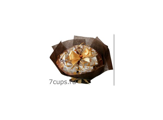 Букет из чая и кофе - Альтголд - Подарочный набор чайно-кофейный букет, изображение 2