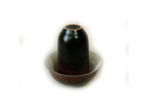 Чайная пара фарфоровая Красная крошка - пиала и стаканчик