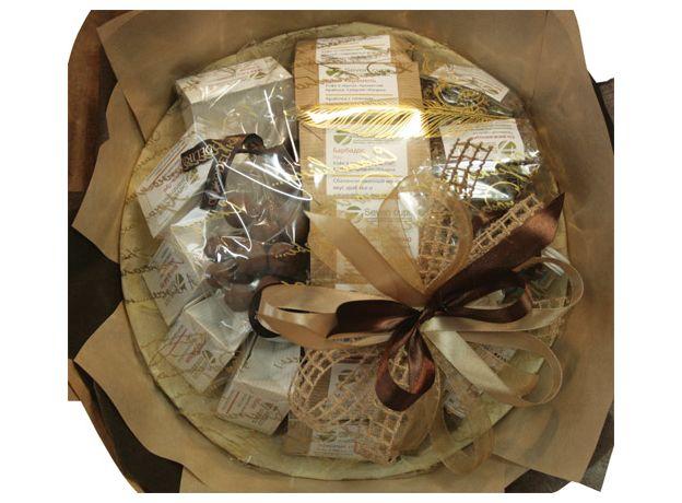 Букет из чая и кофе - Георгин - Подарочный набор чайно-кофейный букет, изображение 2