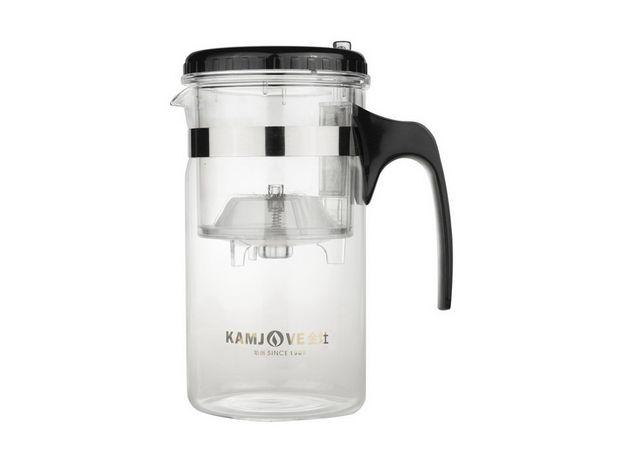 Чайник стеклянный заварочный с кнопкой Гунфу KAMJOVE (типот) 1000 мл (TP-200)