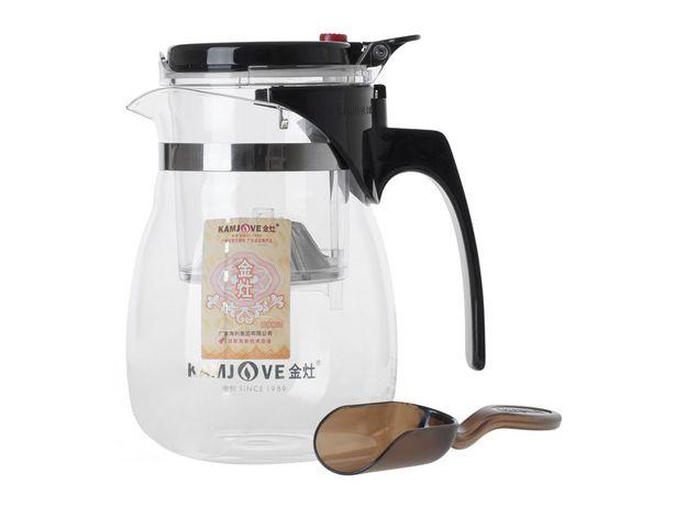 Чайник стеклянный заварочный с кнопкой Гунфу KAMJOVE (типот) 700 мл (ТР-757)