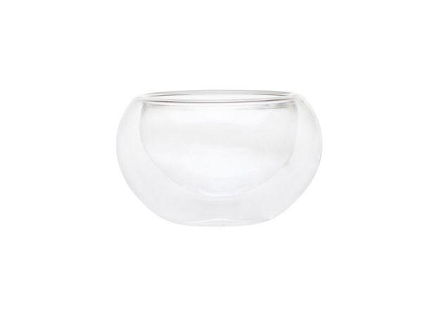 Пиала стеклянная необжигающая с двойными стенками 50 мл
