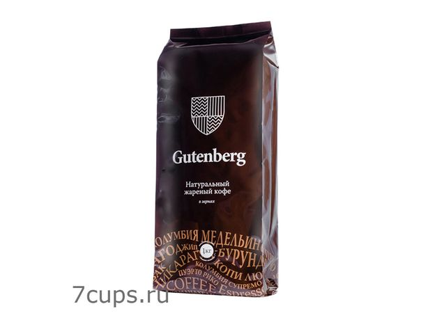 Колумбия Медельин Супремо, Gutenberg 1 кг - Кофе в зернах, medium roast
