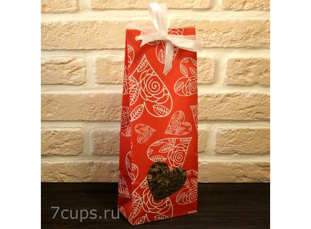 Красное сердце - Подарочный набор из чая и сладостей